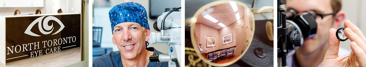 various lifestyle images for North Toronto Eye Care