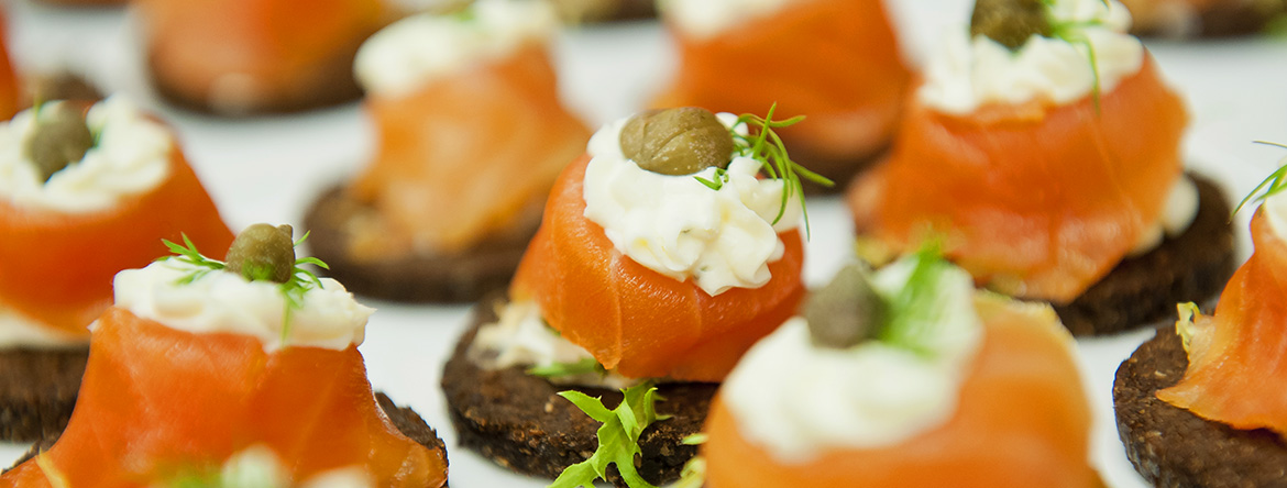 Smoke Salmon hors d'oeuvres