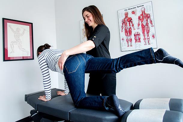 Performing Rehabilitating Exercise