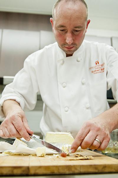 Chef Robert Mills preparing hors d'oeuvres