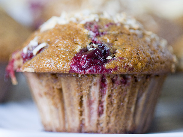 Birds and Beans Cafe by the Lake fresh baked muffin