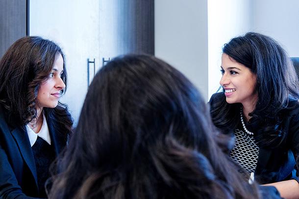 Marani Law Closeup of Team Meeting