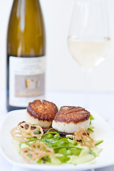 Scallops and Greens