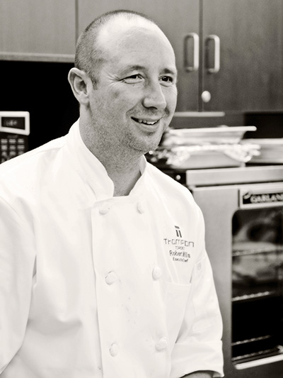 Chef Robert Mills smiling