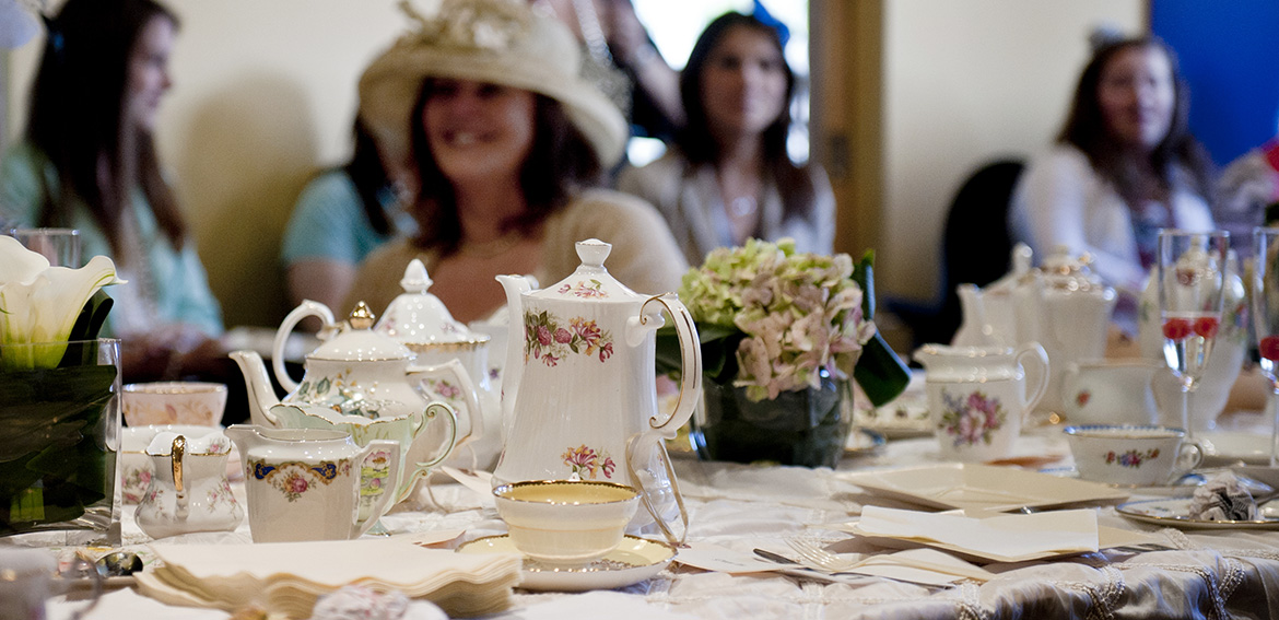 Guest with hats at Tea Party