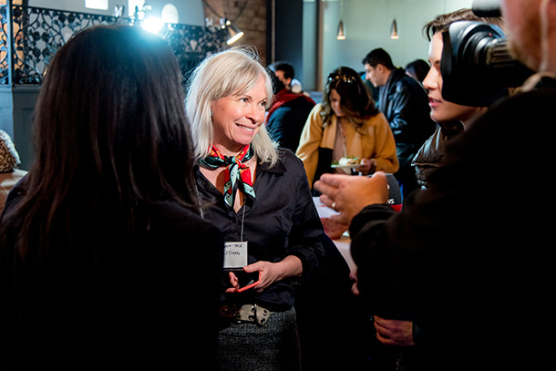Media speaks to an attendee of the Costi Annual General Meeting Event