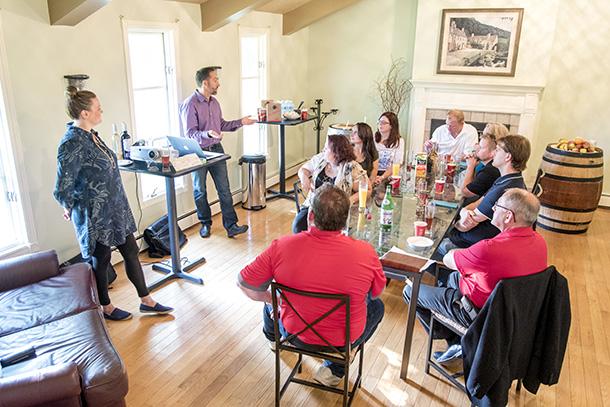 Team Building Small Talk Vineyards
