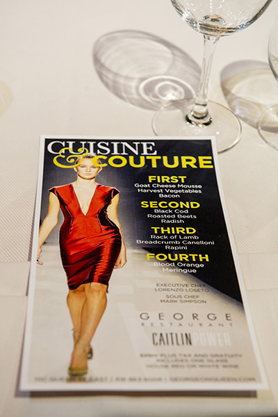 Cuisine & Couture Event at George Restaurant