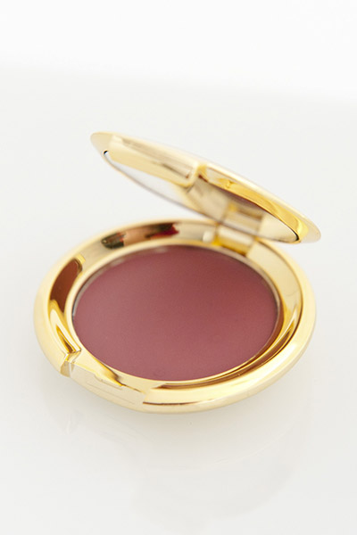 Yves Rocher beauty product photography, gold compact