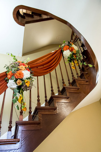 Alderlea Wood Staircase with decor