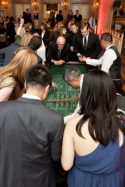The roulette table is very popular