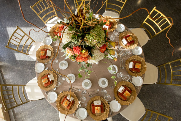 Alderlea Round Table setting from above