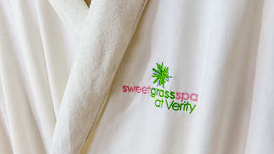 sweet grass spa robe