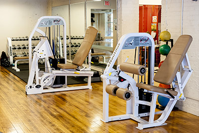 Workout equipment in the gym