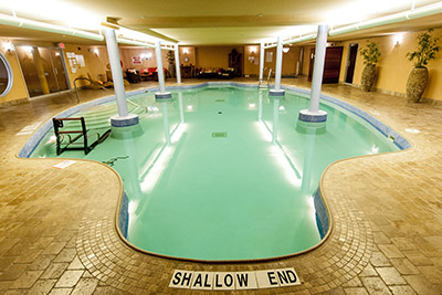 View of the shallow end of the pool